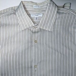 Banana Republic Men's Dress Shirt Vertical Striped